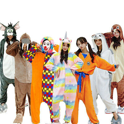 Party Animals Costume (Adult Joker Pajamas kigurumi clown Cosplay Party Animal Costume Costume)