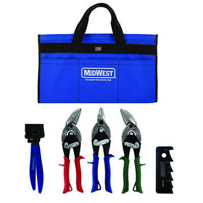 Midwest Hvac Tool Set Aviation Snips Left Right Bulldog Seamer Tongs Scribe Usa