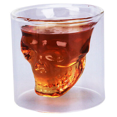 New 73ml Crystal Skull Head Vodka Whiskey Shot Glass Cup Drinking Ware for Bar on Rummage