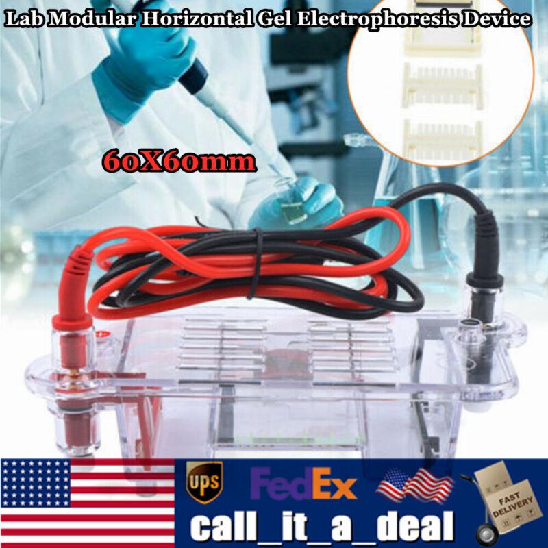 Mini Lab Modular Horizontal Gel Electrophoresis Cell System Instrument 60X60mm