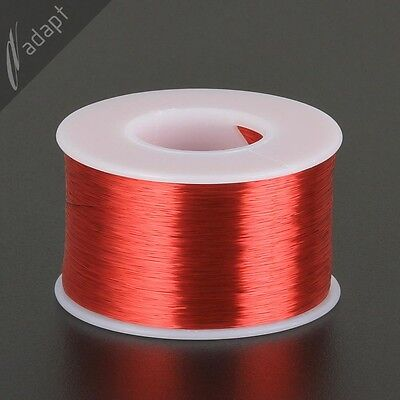36 AWG Gauge Magnet Wire Red 6200' 155C Solderable Enameled Copper Coil Winding