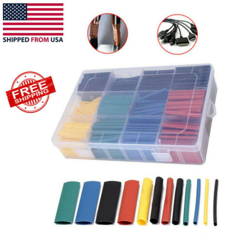 530 Pcs 2:1 Heat Shrink Tubing Tube Sleeving Wrap Cable Wire Hot 5 Color 8 Size Business & Industrial