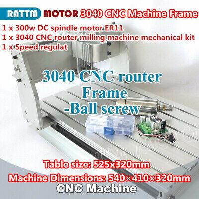 3040 300w Spindle Desktop Ballscrew Cnc Engraving Milling Machine Router Frame