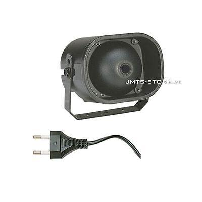 Alarmsirene Alarm Sirene 230 V mit Netzstecker Horn Hupe Alarmanlage Signalgeber