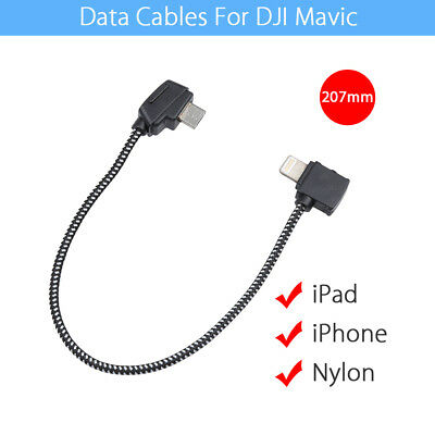 FPV USB Data Connector Nylon Cable charging iPad iPhone 207mm For DJI Mavic Pro