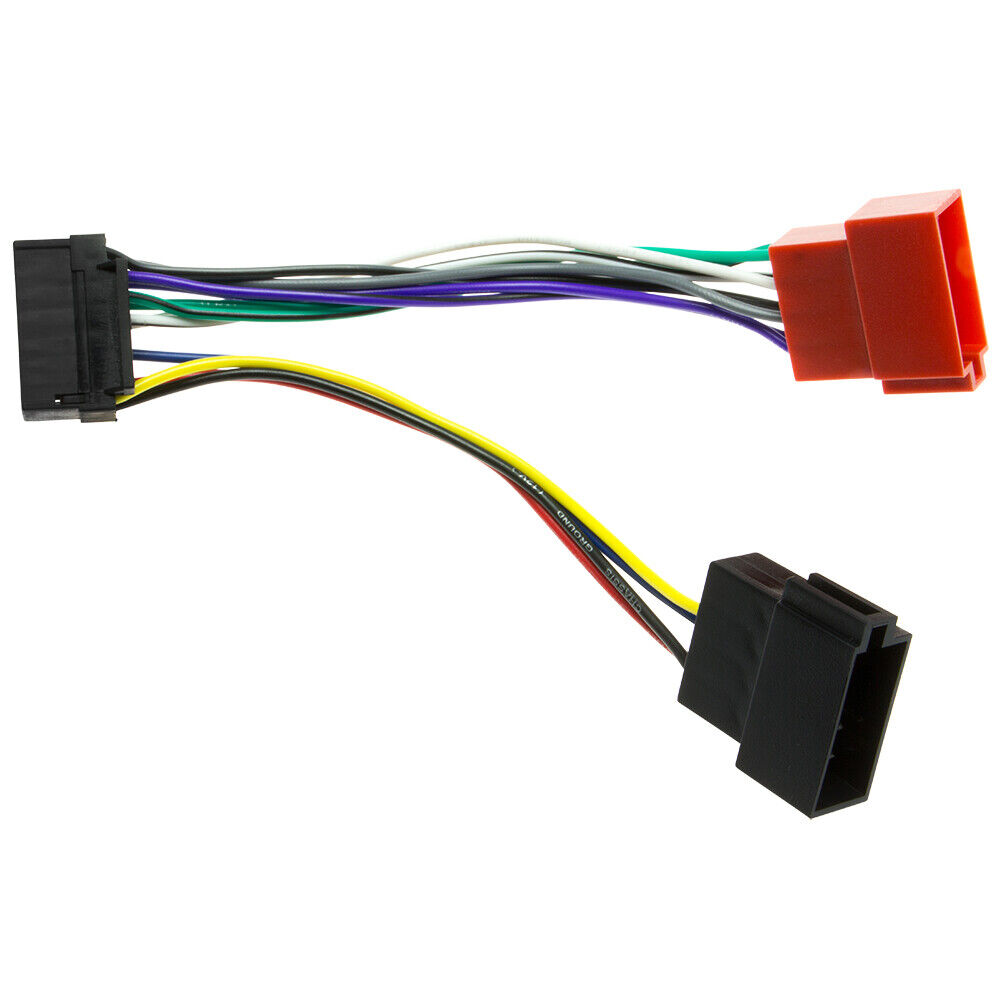Car Auto Radio Cable Radio Adapter Plug Din ISO Wiring Harness 16Pin for JVC