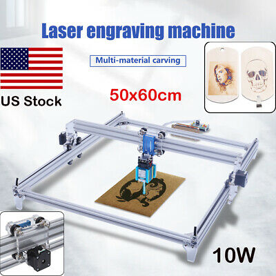 10w Laser Diy Cnc Router Kit Engraving Machine 2 Axis Picture Marking Printer Us