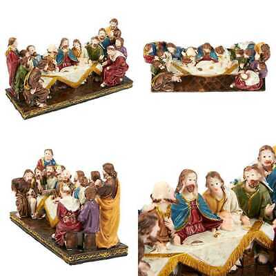 Religious Statues The Last Supper Hand Painted Resin Collectible Figurine Christ