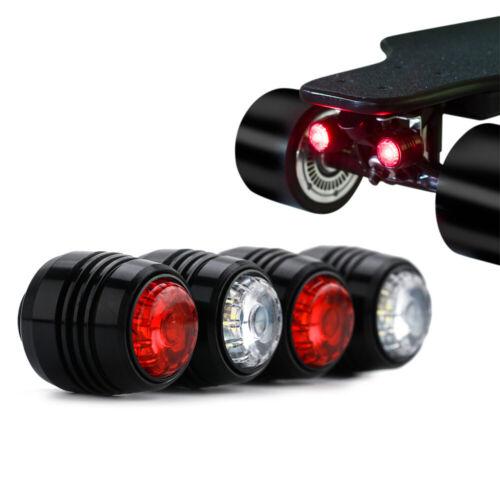 Koowheel 4Pcs Skateboard LED Lights Rechargebale Night Warning Safety Lights