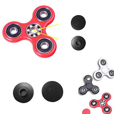 2 X(1 pair) Caps For Spinner Fidget Toy EDC Hand Finger Spinner Desk Focus Black