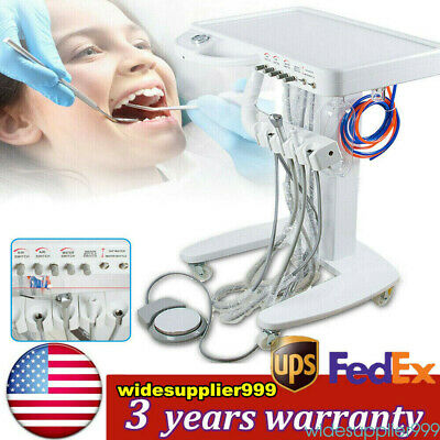Dental 4 Hole Portable Mobile Self Delivery Cart Weak Suction Treatment Work