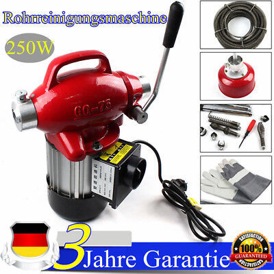 Pipe Cleaning Machine Sewage Electric Spiral Pipe Drain Cleaner 400umin 250w De