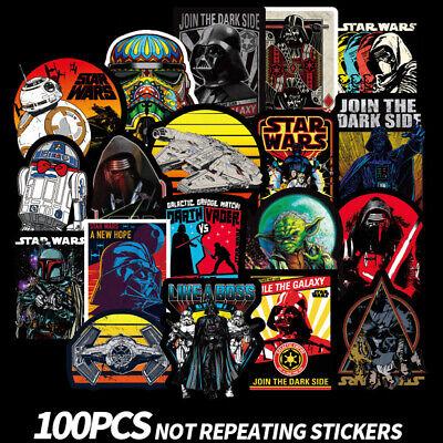 100pcs Star Wars Vader Stickers Vinyl Decal Car Skateboard Luggage Laptop DIY