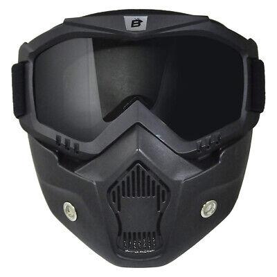 ATV Goggles Full Face Mask Foam Padded Shatterproof Anti Fog Smoke Lens