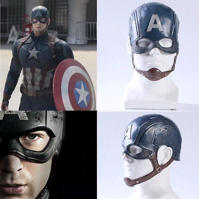 Captain America 3 Civil War Steve Rogers Cosplay Mask Halloween Party Prop