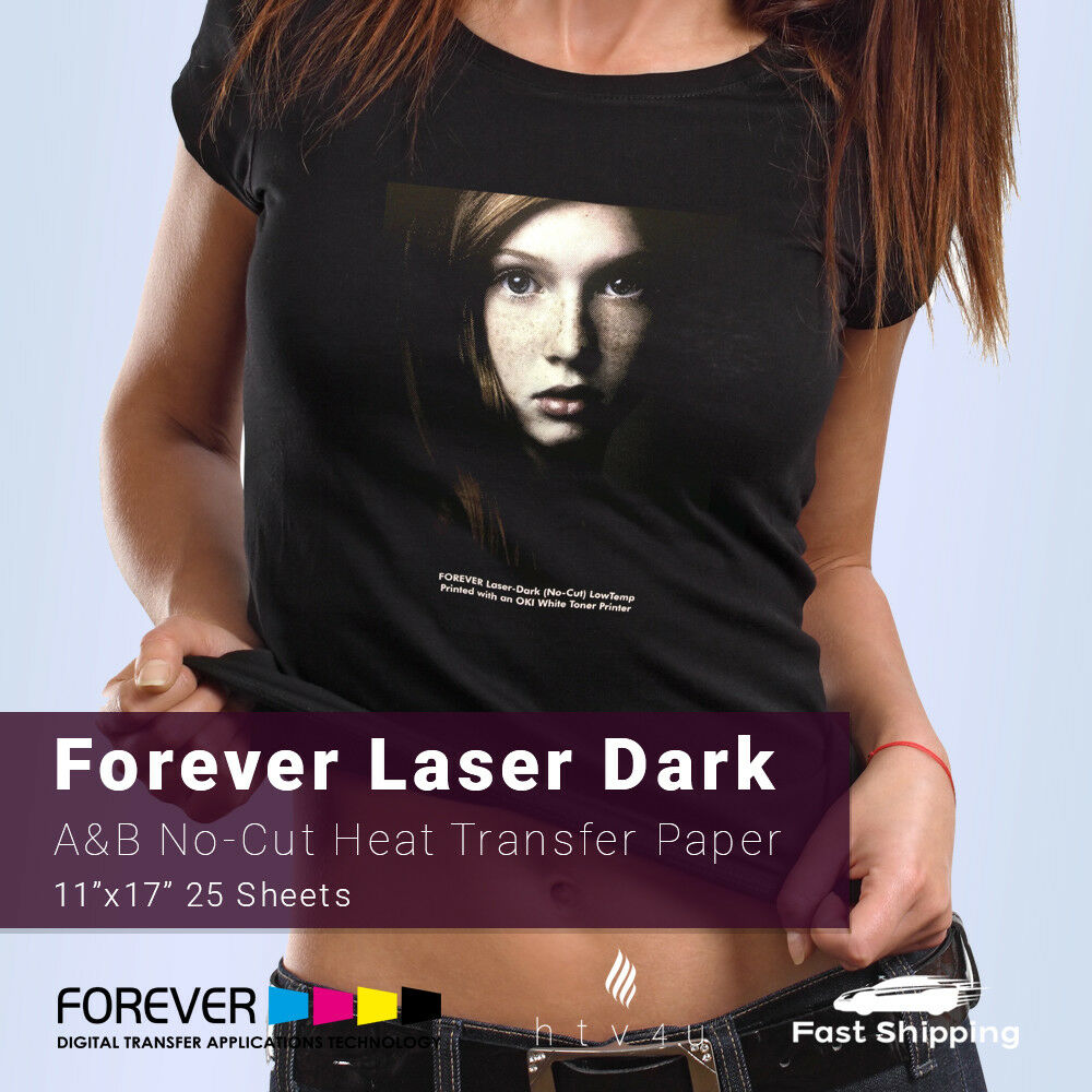 "Forever Laser Dark  A & B Heat Transfer Paper 11"" x 17"" - 25"