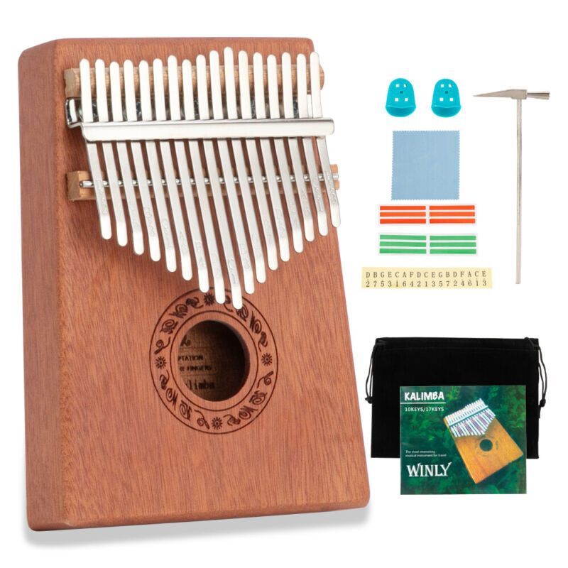 17Key Kalimba Hand Held Piano Thumb Piano C Tone Single Board Musical Instrument