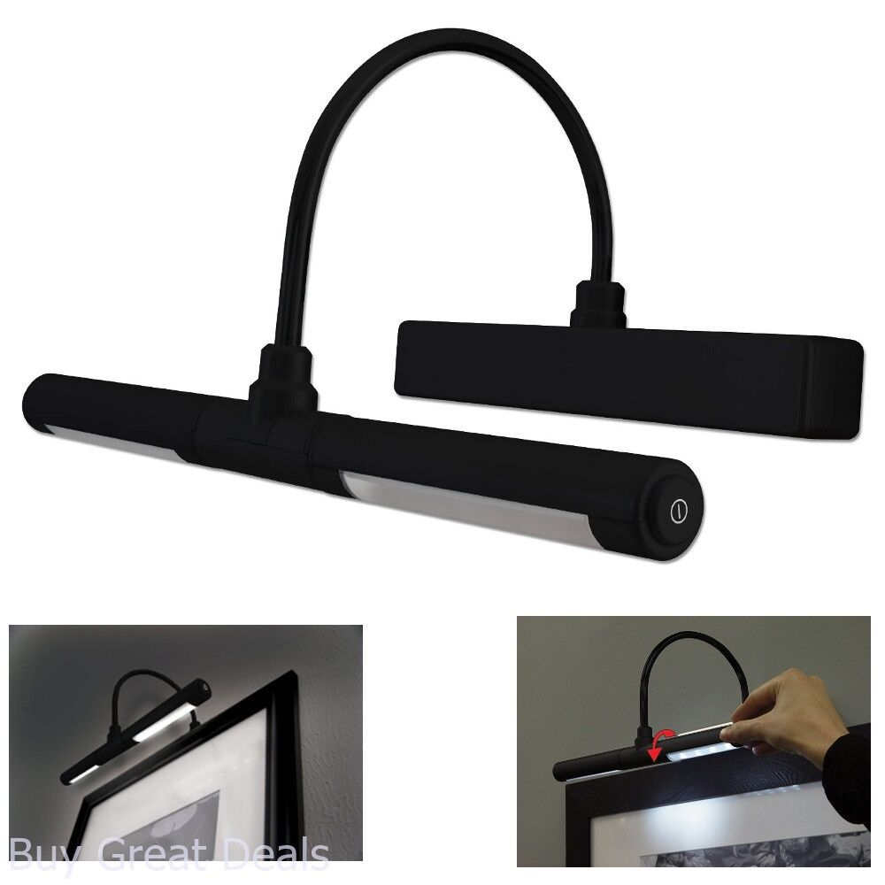 Details About Wall Picture Frame Light Wireless Led Black Display Art Painting Lamp Dimmer