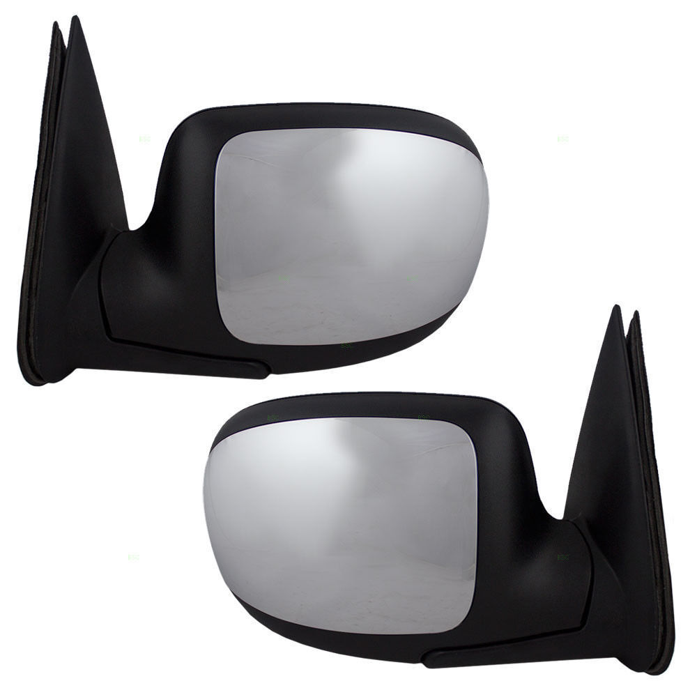 Chrome Power Door Mirror Pair For 1999-2006 Chevy Silverado GMC Sierra Pickup
