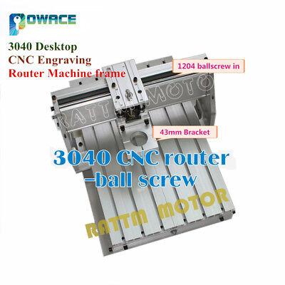 3040 Desktop Cnc Engraving Router Machine Frame Kit 1204 Ballscrew43mm Clamp