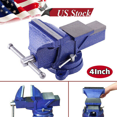 4 Inch Mechanic Bench Vise Table Top Clamp Press Locking Swivel Base Heavy New