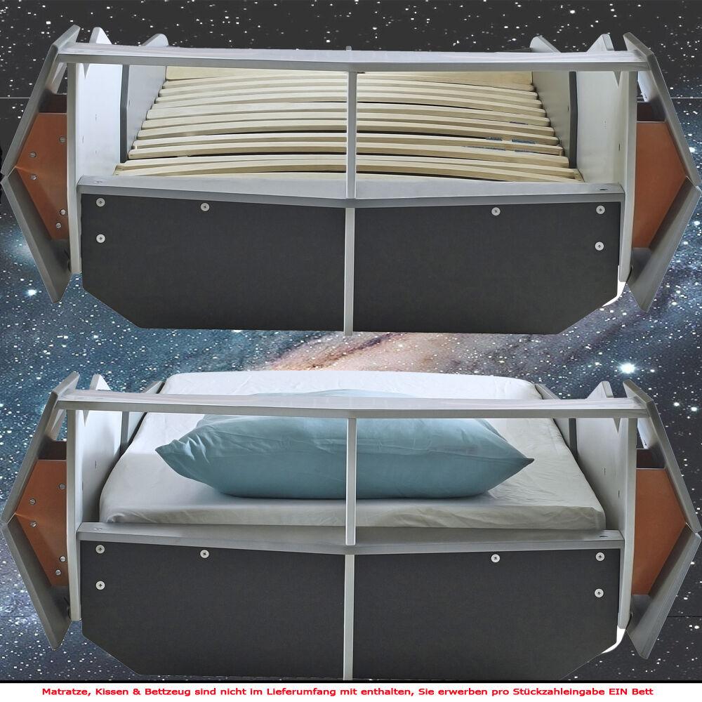 kinderbett starship 190x90cm 200x90cm jugendbett star bett raumschiff wars eur 174 80. Black Bedroom Furniture Sets. Home Design Ideas