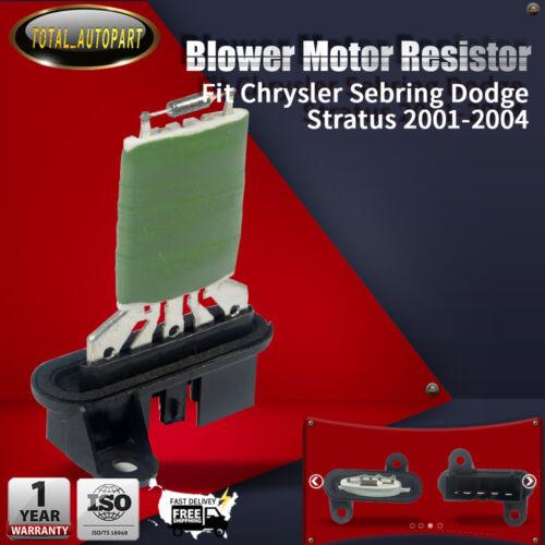 Hvac Blower Motor Resistor For Chrysler Sebring Dodge Stratus 2001 Rhebay: 2004 Sebring Blower Motor Resistor Location At Gmaili.net