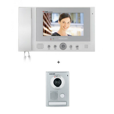 KOCOM KCV-811 Color VideoPhone + Door Camera KC-MC30 HandSet  4Wire  Intercom