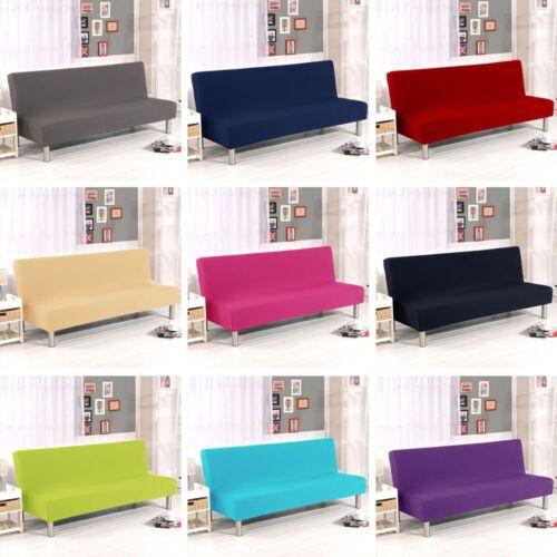 Folding Armless Sofa Futon Cover Seater
