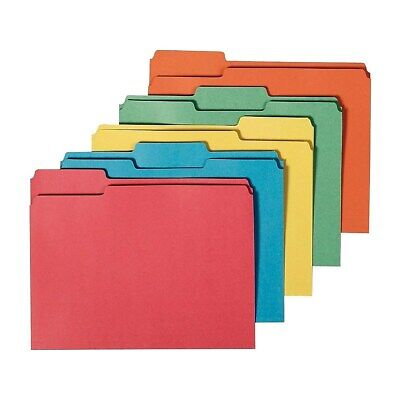 Staples 100 Recy Colored File Folders Letter 3 Tab Assorted Positions 50bx