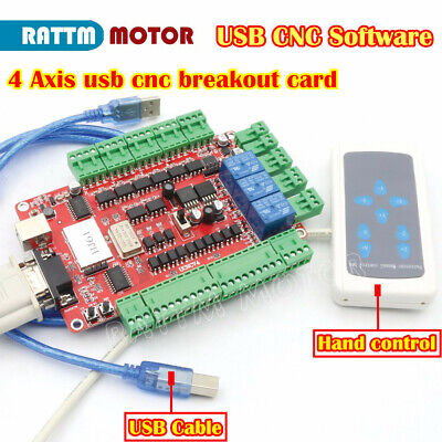 4 Axis Usb Cnc Controller Card Nema23 Stepper Motor Breakout Boardhand Control