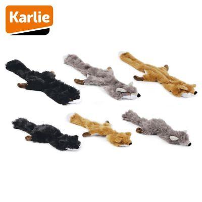 Karlie Plüsch-Hundespielzeug Flatinos Fuchs Spielzeug mit Squeaker Kuscheltier