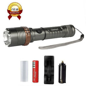 Rechargeable LED Torch 5 Modes, Ajustable / Zoomable / Waterproof