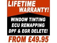 ** FROM £49.95 ** CAR WINDOW TINTING \ ECU REMAPPING \ DPF & EGR DELETE!