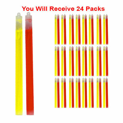 48x Glow Sticks Premium Emergency Roadside Light Sticks Non-Toxic  10 - Glow Sticks Non Toxic
