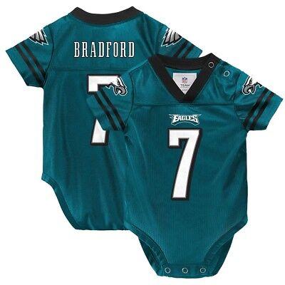 Sam Bradford NFL Philadelphia Eagles Teal Green Home Infant Newborn Jersey (Green Infant Nfl Jersey)