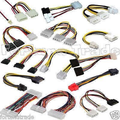 molex sata strom kabel y adapter mainboard PCI Lüfter Grafik Karte Netzteil cpu