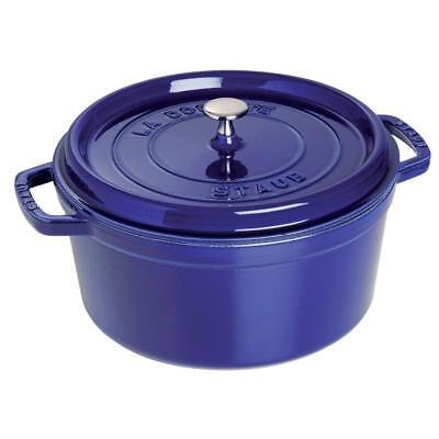 Staub 1102691 Cast Iron Round Cocotte Oven, 5.5 quart, Dark (Cast Iron Round Cocotte)
