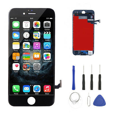 For iPhone 7 Black LCD Display Touch Screen Digitizer Assembly Kit Top A+