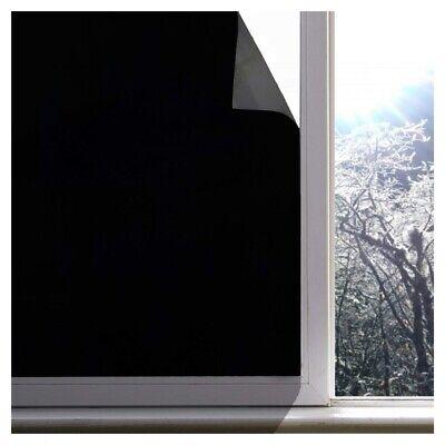 35x78in Blackout Window Film Privacy Room Darkening Black Window Tint Cover