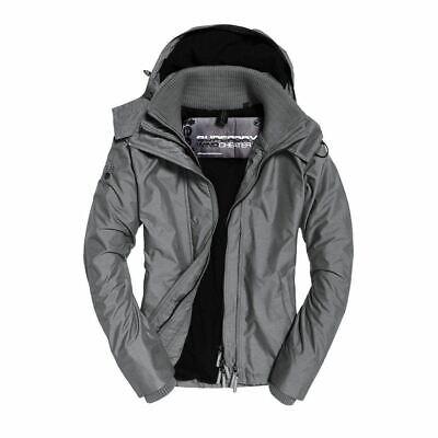 Superdry Mens Arctic Hood Zip Jacket Body Warmer Grey