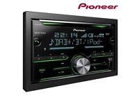 Pioneer CD Tuner with Bluetooth, USB, DAB/DAB+ and Spotify, Apple iOS & Android Compatible FHX840
