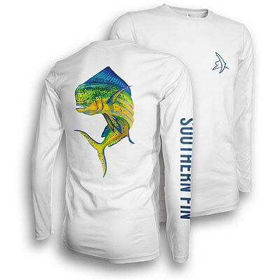Performance Fishing Shirt - Southern Fin Apparel UPF 50 Dri Fit Mens Long Sleeve