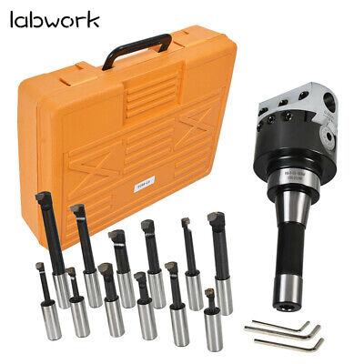 12pcs 3 Boring Head R8 Shank 34 Carbide Boring Bar Set Combo Milling New