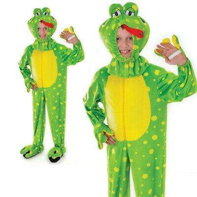 Kinder Frosch Kostüm Jungen Mädchen Tier Buch Woche Tag Kostüm Outfit - Mädchen Frosch Kostüm