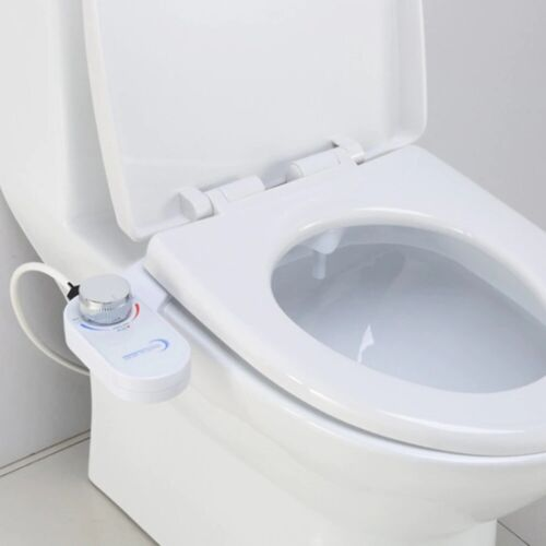 Non Electric Toilet Bidet Attachment Dual Nozzle with Self Cleaning Function