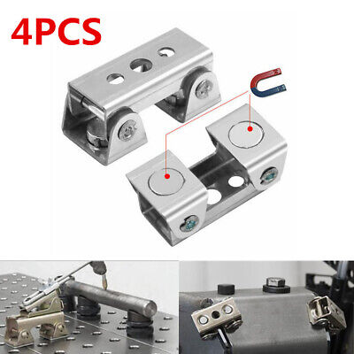 4pcs Magnetic V-type Clamps Adjustable Welding Holder Suspender Fixture V-pads C