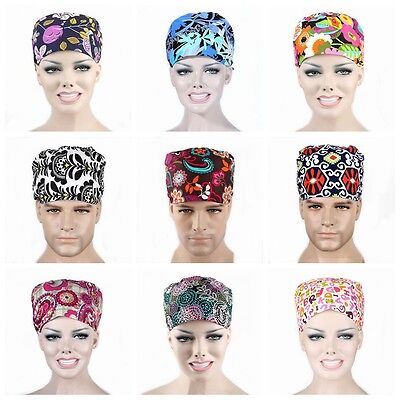 Men Women Doctor/Nurses Printing Scrub Cap Medical Surgical Surgery Hat Newest](Nurses Hat)