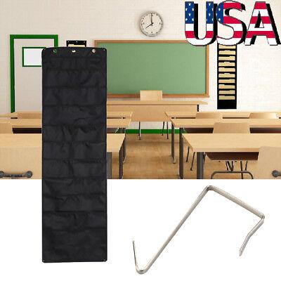 Office School Hanging Wall 10 Fabric Pocket Chart Storage File Folder Organizer