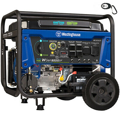 Westinghouse Wgen9500 - 9500 Watt Electric Start Dual Fuel Portable Generator...